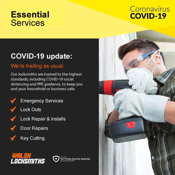 Walsh Locksmiths COVID Update